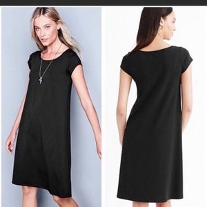 Eileen Fisher Gray Cap Sleeve Midi T Shirt Dress S